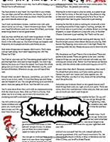 Sketchbook: Sketchbook Dr.Seuss Oh The Places You'll Go Cute Drawing Photo Art Incredible Soft Glossy Duo Blank Sheets Fantastic with Blank Paper for Taking Notes Writing Workbook for Teens and Children Students School Kids