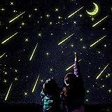 星 月 メテオ 夜光ステッカー 蓄光 壁紙 子供部屋ウォールステッカー 蓄光室内インテリア ウォールシール蛍光 暗闇で光る
