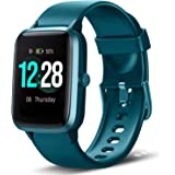 LETSCOM Smart Watch Fitness Tracker Heart Rate Monitor Step Calorie Counter Sleep Monitor Music Control IP68 Water Resistant