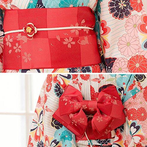 (ディータ)Dita2017年デザイン京都本格女性浴衣すぐにお出かけできるフルセット浴衣本体(ゆかた)・帯(つくりおび)・下駄(ゲタ)の3点セット+着付けスタイルブック(冊子)の計4点大正ロマン丸菊レトロ