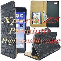 JP515【ブラック】【ハート型 Xperia Z5 Premium レザーケース】【選べる12色】 【大人気】【マグネット式】【本革】≪透明収納ポケットがありますのでプリクラ等を入れても使えますよ≫ エクスペリア Xperia Z5 Premium SO-03H エクスペリア エックス プレミアム 編み込み 網目 メッシュ スマホ 携帯 ケース カバー 電話 高品質 人気 長持ち シンプル 手帳型 レザー ドコモ ソフトバンク docomo au softbank 本体 保護 落下 衝撃 吸収 キズ 防塵 防止