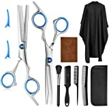 9 PCS Professional Hair Cutting Scissors, Barber Thinning Scissors Hairdressing Shears Stainless Steel Hair Cutting Shears Se