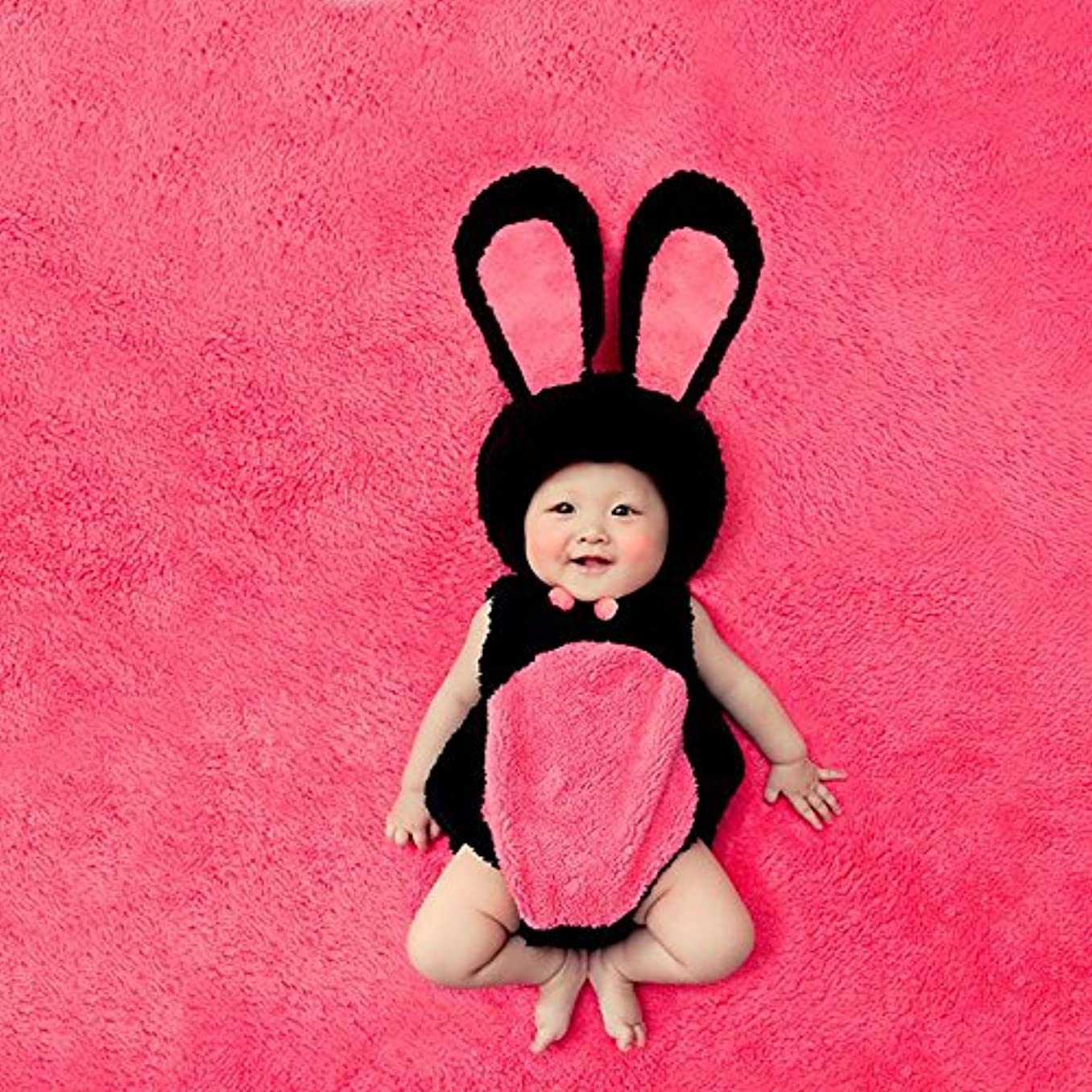 提唱する形成次へJ-LAVIE ベビー 着ぐるみ うさぎ かわいい もこもこ 柔らか 寝相アート 出産祝い 記念写真
