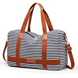 Canvas Weekend Travel Bag for Women Overnight Bags Ladies Duffel Tote Luggage