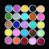 ユニークモール(UniqueMall)25色セット 発色いい ダリッター ラメ ネイルデコ レジン用 ジェル用顔料 パール顔料25色セット カラーパウダー