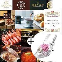 お 花 プリザーブドフラワー ピンク ローズ ヒール と カタログギフト G-CO ギフト セット (DB)