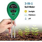 K KERNOWO Soil Test Kit, 3-in-1 Soil pH Meter with Moisture, Light and PH Tester for Garden, Farm, Lawn, Indoor & Outdoor (No