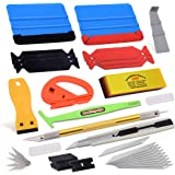 Vehicle Window Tint Film Install Vinyl Wrap Tool Kit includes Felt Squeegee, PPF Scraper, Safety Cutter, Air Release Pin, Uti