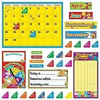 Trend Enterprises T-8420 Playtime Pals Calendar Bulletin Board Set Grade: Kindergarten to 3 Paper (Pack of 106) 【You&Me】 [並行輸入品]
