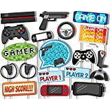Video Gamer Game On Photo Booth Props Kit - 20 Pack Party Camera Props Fully Assembled