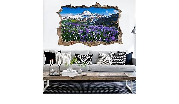 Amazon 3D 紫色の花の丘 25 ウ...