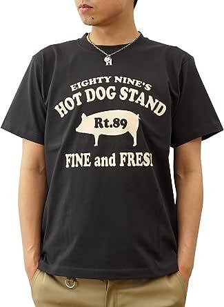 (ジーンズバグ)JEANSBUG 89's HOT DOG オリジナル ホットドッグ 豚 モチーフ プリント 半袖 Tシャツ メンズ レディース 大きいサイズ ST-HOTDOG