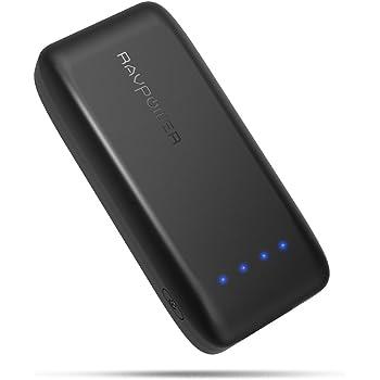 携帯充電器 RAVPower 6700mAh 急速充電 モバイルバッテリー (6700mAh 最小・最軽量/2016年9月末時点、iSmart2.0機能搭載) iPhone / iPad / Xperia / タブレット / ゲーム機 等対応 RP-PB060 ブラック