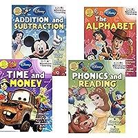 [ディズニー ピクサー]Disney Pixar Activity Workbook Bundle Alphabet Phonics Reading Addition Subtraction Time Money [並行輸入品]