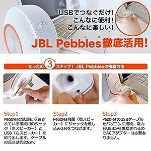 JBL Pebbles バスパワードスピーカー USB/DAC内蔵 ホワイト JBLPEBBLESWHTJN 【国内正規品】