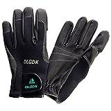 GoodsLand 指貫き機能搭載 フィッシング グローブ 魚釣り 手袋 夜釣り 防風 ネオプレーン 高機能 多機能 指先 (ブラックXLサイズ) GD-FSGLOVE-BK-XL