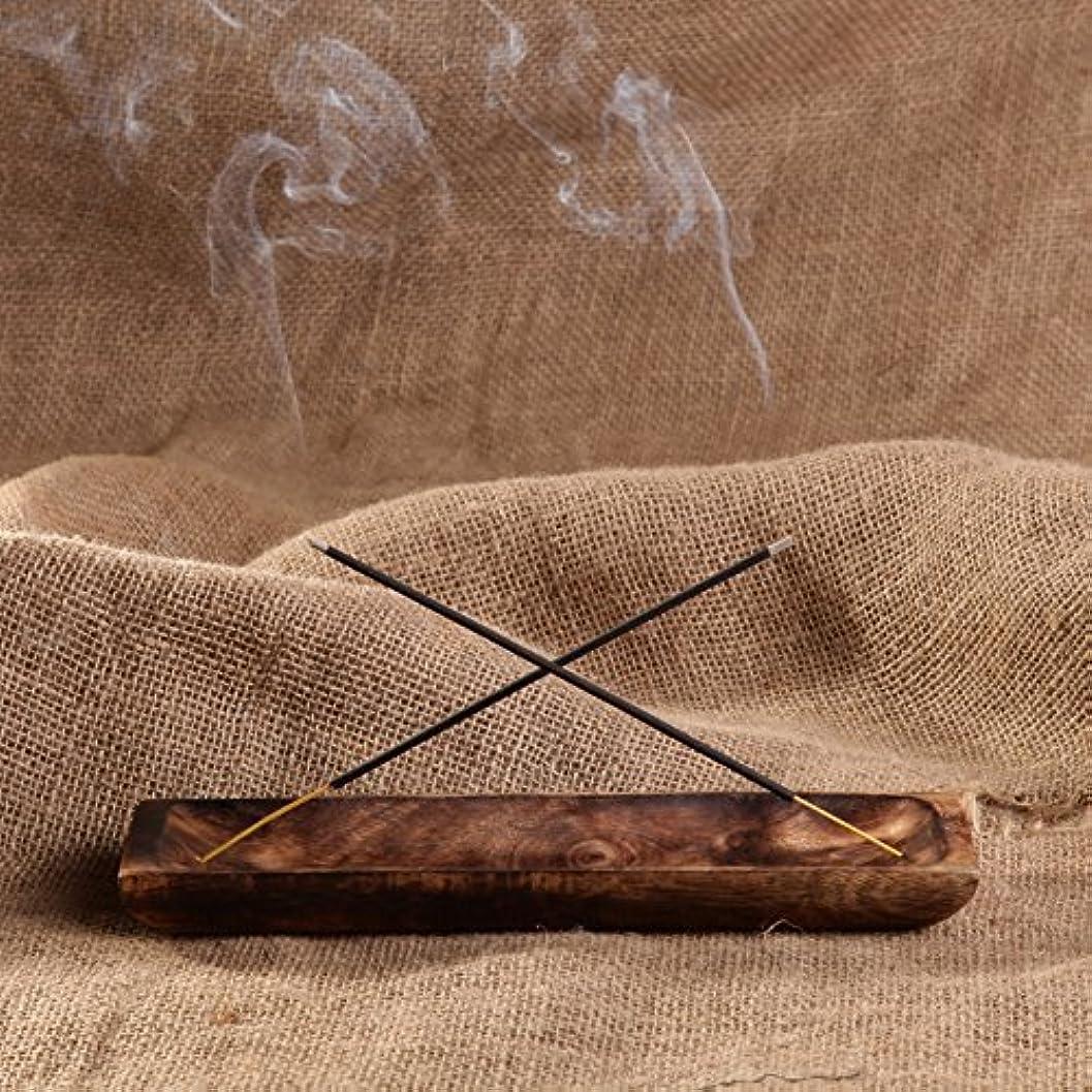 感動するアラビア語無数のgocraftアンティーク木製Incense Ashキャッチャー – 10インチ Rectangular ブラウン