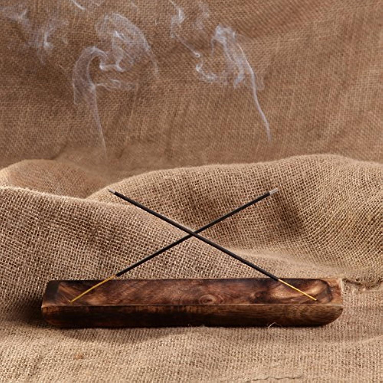 のために指定する球状gocraftアンティーク木製Incense Ashキャッチャー – 10インチ Rectangular ブラウン