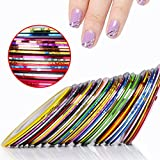 CLAVUZ 10Pcs Mixed Colors Rolls Striping Tape Line Nail Art Tips Nail Line Decoration Sticker