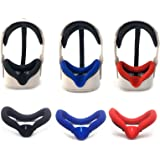 Oculus Quest 2 Silicone Cover-Oculus Quest 2 VR Eye Pad,Oculus Quest 2 Accessory Face Pad (Black+Red+Blue)