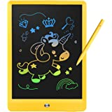 Derabika Girls Gifts Toys for 3 5 7 6 4 Year Old Girls, 10 Inch LCD Writing Tablet Drawing Board, Colorful Doodle Board Drawi