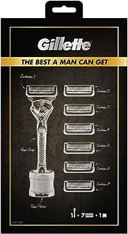 Gillette Fusion ProShield Men's Razor Gift Set, 1 Handle, 7 Cartridges and 1 Razor Stand