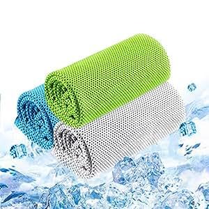 Xingmeng 3枚セット 冷却タオル UVカット アウトドア