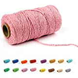flipped (100 Yards/2mm/19 Colors Optional) Cotton Baker Twine DIY Craft Macramé Natural Cotton Rope Craft Making Knitting Cor