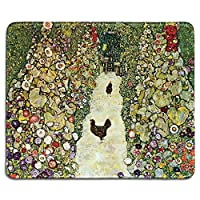 ルースターズチキンズマウスパッドのある庭園楽しいゲーミングマウスパッド、滑り止めマウスパッド