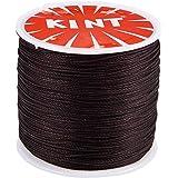 PH PandaHall 約106m/巻き ポリエステル製 蝋引き紐 直径0.5mm ロウ引き糸 ワックスコード 手縫い…