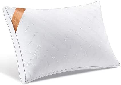 【AYO最新版】 枕 安眠 人気 肩こり 良い通気性 快眠枕 高級ホテル仕様 安眠枕 横向き対応 高反発枕 人気のいびき対策枕 丸洗い可能 立体構造43x63cm 家族のプレゼント (ホワイト)