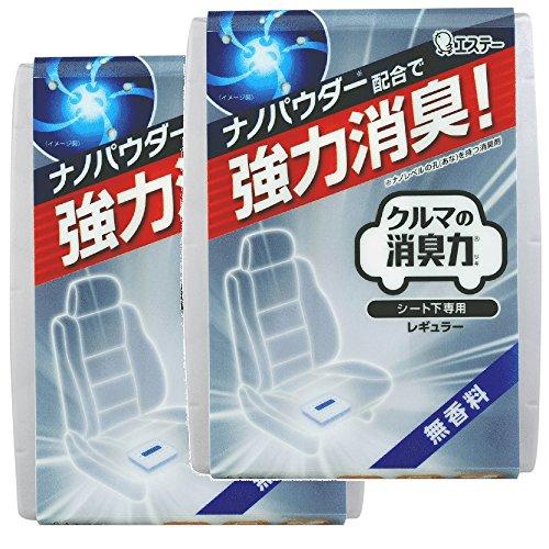 【まとめ買い】 クルマの消臭力 シート下専用 消臭芳香剤 クルマ用 クルマ 無香料 200g×2個
