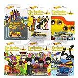 ビートルズ イエローサブマリン 50周年記念 ホットウィール 2016 ウォルマート限定 ダイキャストカー 1/64 ベーシックシリーズ 全6台セット / HOT WHEELS The Beatles Yellow Submarine 50TH ANNIV