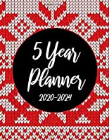 2020-2024 5 Year Planner: Red Christmas Knitting 60 Months Appointment Calendar 5 year Monthly Planner 8.5 x 11 Business Planners and Journal Agenda Schedule Organizer Logbook With Holidays and Inspirational Quotes
