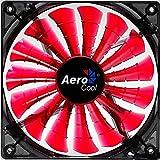 AeroCool エアロクール PCケースファン Shark 14cm 赤色LED搭載 レッド EN55475
