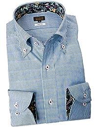 RSD156-008 (スタイルワークス) メンズ長袖ワイシャツ ストライプ | 青