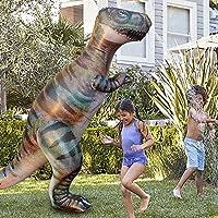 インフレータブル 噴水シャワー 噴水恐竜 霸王龙 スプリンクラー 水遊び 子供のおもちゃ アウトドア ビーチ 芝生 庭 プール 夏の日