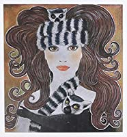 ローラ・J HolmanアートLemurs動物–StylizedアートLemurs Wild AnimalマダガスカルWoman Hat Whimsical Pastel Painting–グリーティングカード Set of 6 Greeting Cards