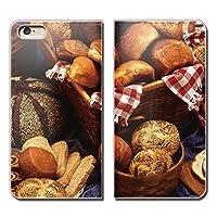 (ティアラ) Tiara AQUOS Xx-Y 404SHY スマホケース 手帳型 ベルトなし 食べ物 フード ドーナツ パン スイーツ 手帳ケース カバー バンドなし マグネット式 バンドレス EB259040087902