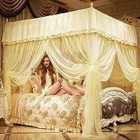 チュールPalace Mosquito Net、ダブル家庭用ステンレススチールブラケットfloor-standingベッドキャノピーMosquito curtain-b queen2