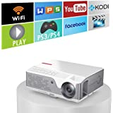 """6000 Lumens 1080 Native Projector, Full HD Android Projector with WiFi Bluetooth, 300"""" Max Image Size, with HDMI USB VGA AV I"""