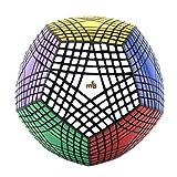 HJXDJP- MF8マジックキューブ Megaminx magic cubeメガミンクス ABS製 正十二面体 スピードキューブ PVCステッカー ポップ防止 回転スムーズ 競技用 立体パズル (9X9X9)