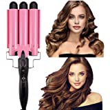 Ausale Curling Iron 3 Barrel Hair Waver Stylish Fast Heating Hair Curlers Temperature Adjustable Ceramic Beach Waver Hair Cur