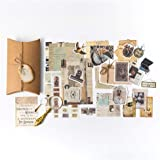 Vintage Scrapbooking DIY Stickers Pack, Decorative Antique Retro Natural Collection, Diary Journal Embellishment Supplies Was