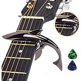 Imelod亜鉛合金ギターカポサメカーポ、アコースティック&エレキギター用、手触りがよく、フレットなしのバズそして耐久性…
