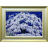 アートショップ フォームス 中島千波「春の宵 枝垂桜」限定200部シルクスクリーン
