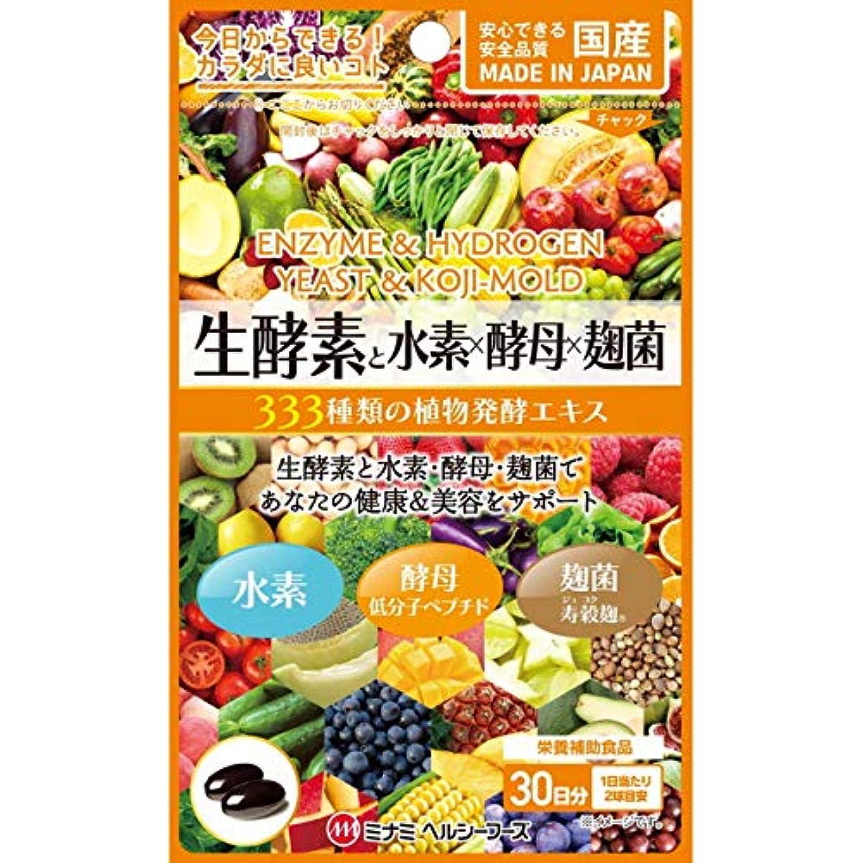 カフェテリア主権者収縮ミナミヘルシーフーズ 生酵素と水素×酵母×麹菌 60球