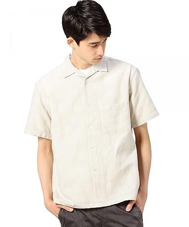 Jacquard Camp Shirt 1216-149-2106: Off White