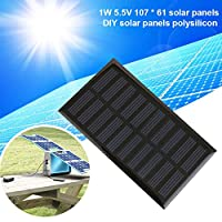 高効率ポリシリコンソーラーパネルソーラー充電器1W 5.5V 107 * 61ソーラーエポキシボードDIYソーラーパネル(1年間保証)