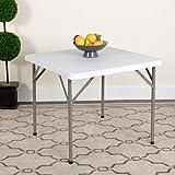 Flash Furniture 86.8 cm Square Granite White Plastic Folding Table